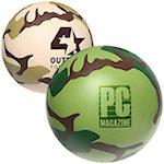 Camouflage Round Stress Balls